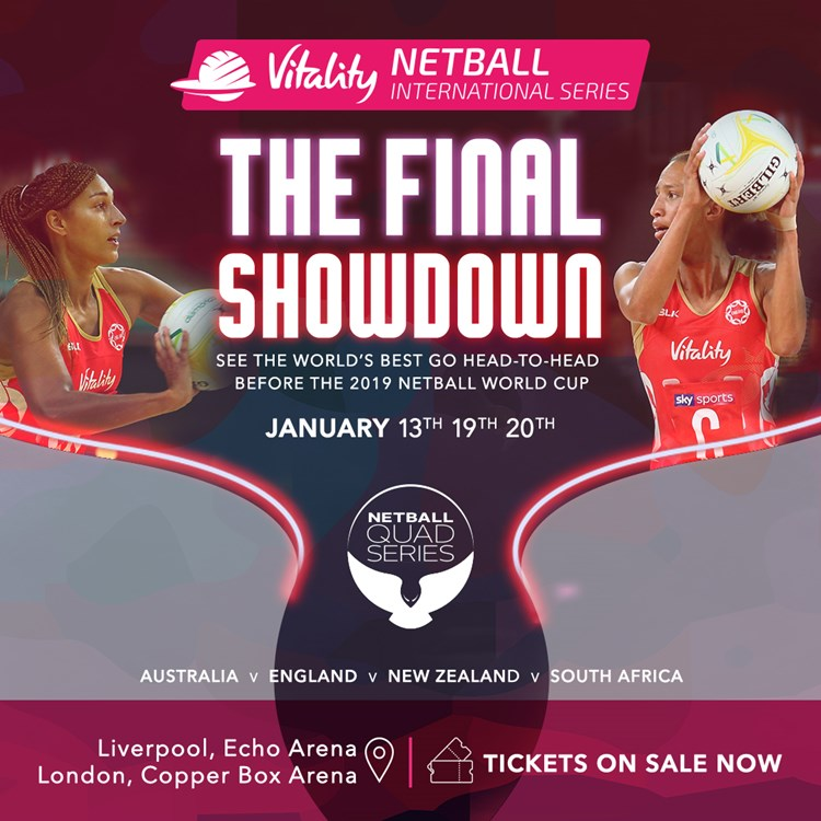 Vitality Netball International Series Tickets | Sport Dates