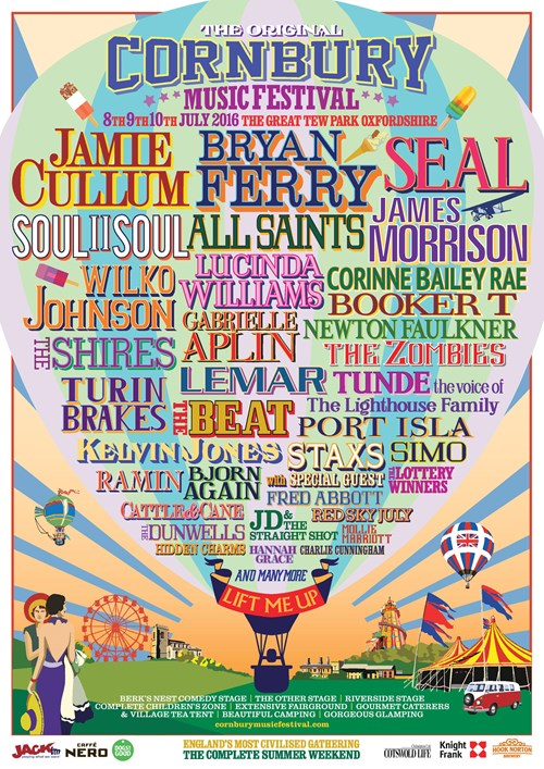 The Original Cornbury Music Festival Line up