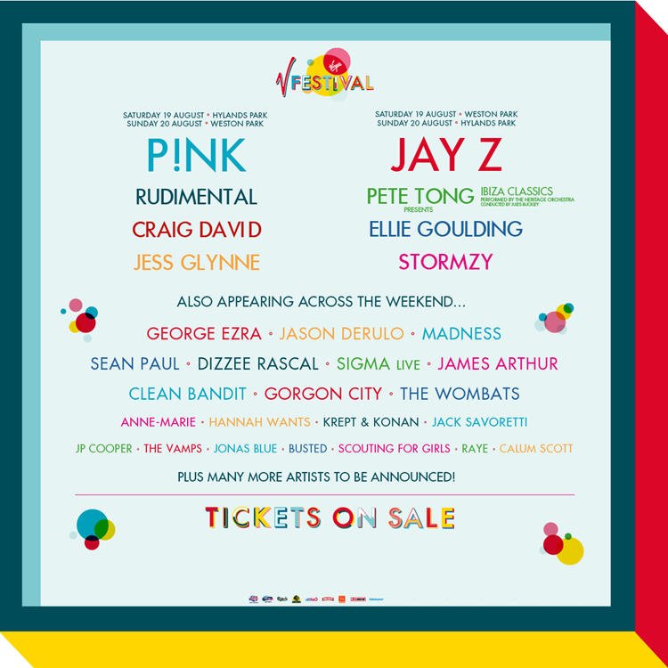 V Festival Line up