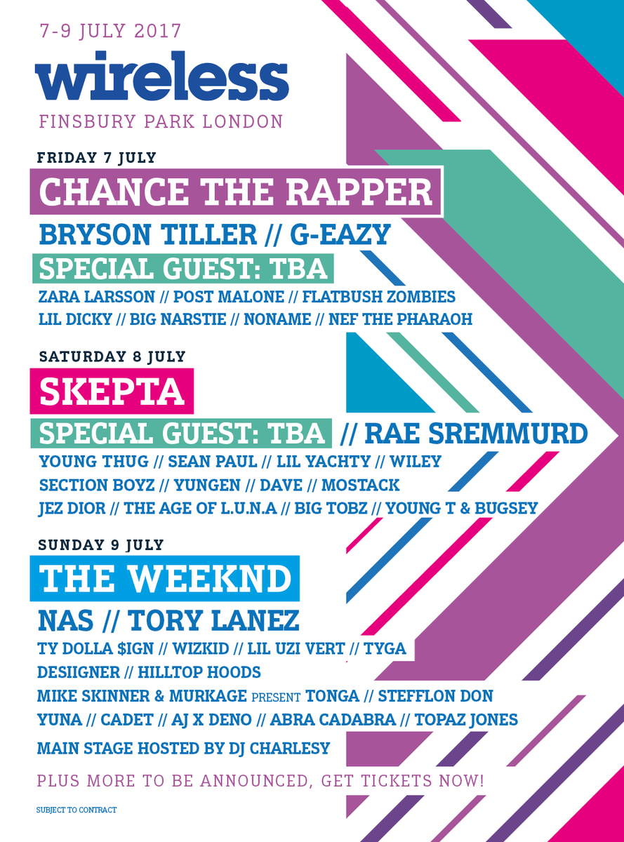 Wireless Festival Line up
