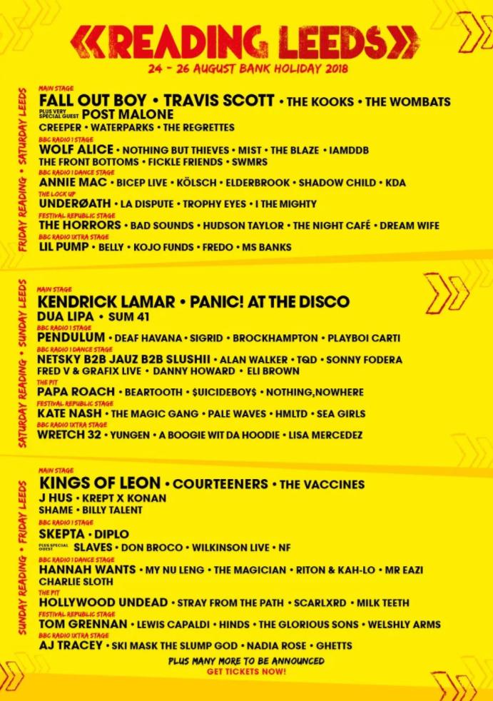 Leeds Festival Line up