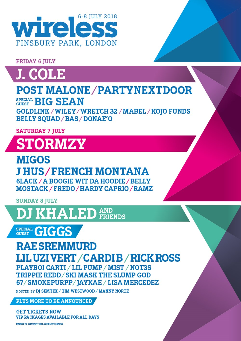 Wireless Festival Line up